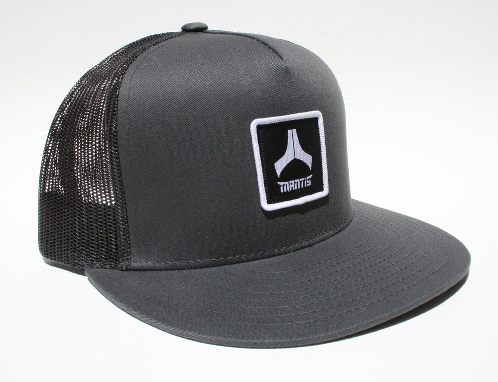Image of Mantis Hat - Mesh Snapback / Patch / Charcoal gray