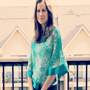 Image of Pretty Well Covered Teal Breastfeeding Coverlet / Maternity Top / Nursing Cover CLEARANCE