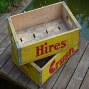 Image of Vintage 'Crush/Hires' Bottle Crates