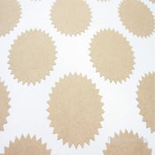 Image of Kraft Starburst Stickers - Envelope Seals - Free Shipping**