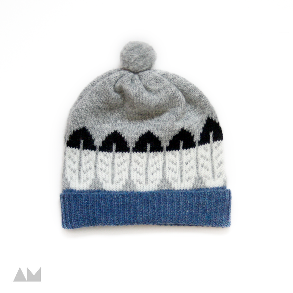 Image of CHEYENNE HAT (Grey and Blue)
