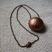 Image of Red Earth - Rose Gold Washed Ashore Sea Urchin Necklace