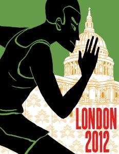 Image of London 2012 Olympics Poster: Athletics