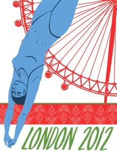 Image of London 2012 Olympics Poster: Aquatics