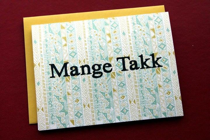 Image of  Mange Takk-Many Thanks in Norwegian