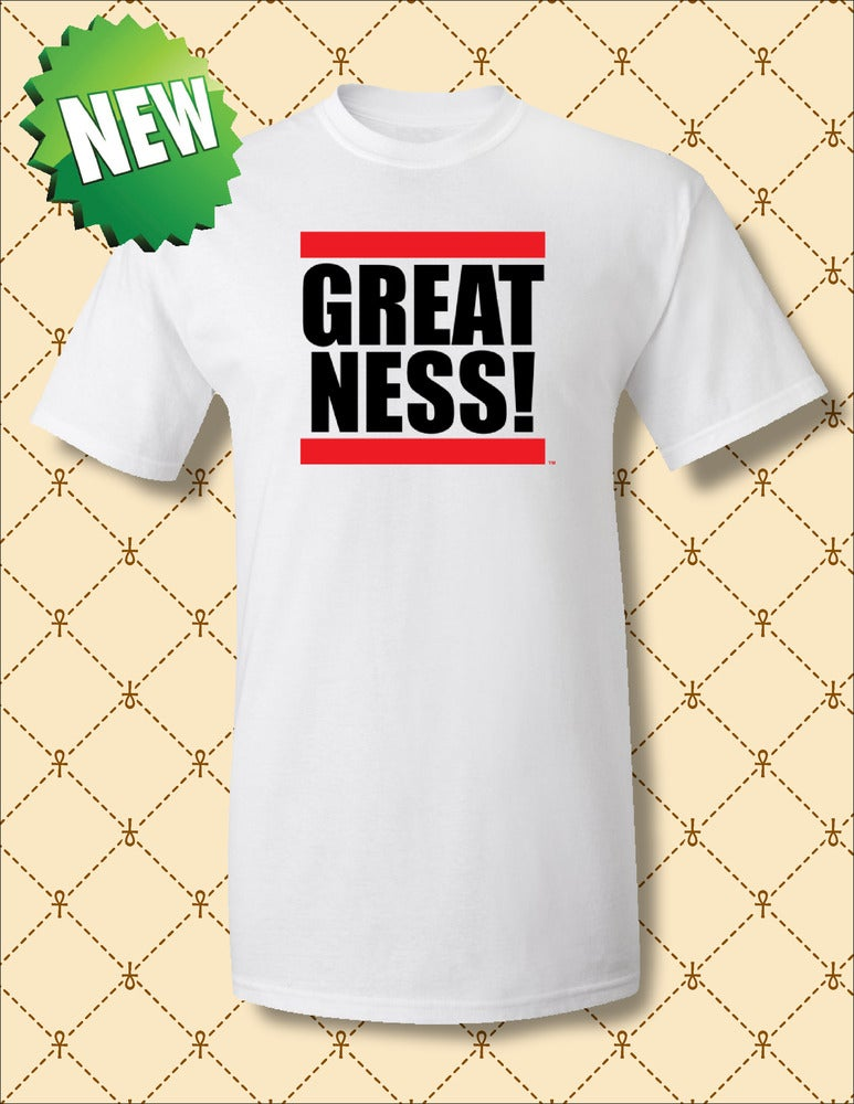 Image of Mens Greatness Logo White Tee