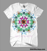 Image of White Bone Rattle Mandala T SHIRT - Very Limited
