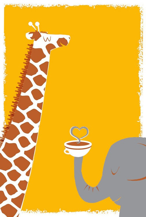 Image of Coffee, Thee & Me Silkscreen Art Print