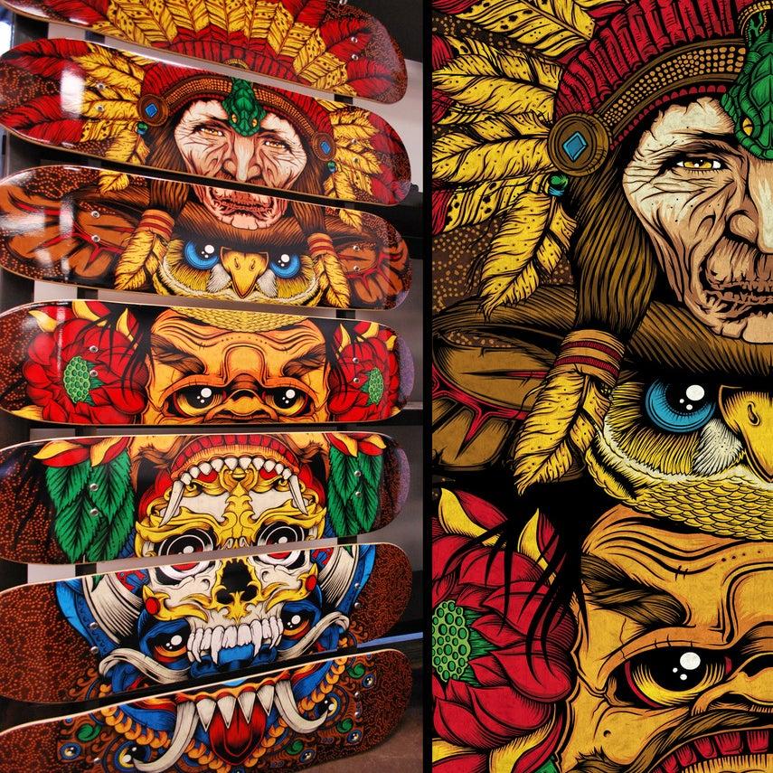 Image of Totem: 7-Skate Deck Artwork