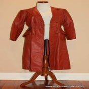 Image of Winlit by Listeff Fashions, Inc. Red Leather Coat - 5/6