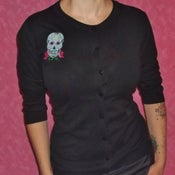 Image of Rockabilly Calavera & Roses Cardigan