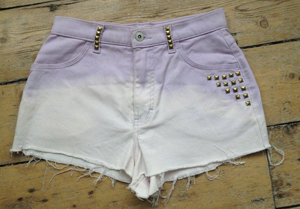 Image of Purple Ombre Highwaisted Studded Shorts