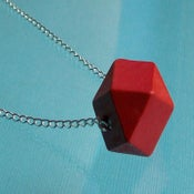 Image of Polyhedron Necklace - Red