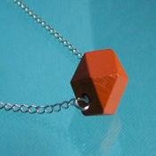 Image of Polyhedron Necklace - Orange