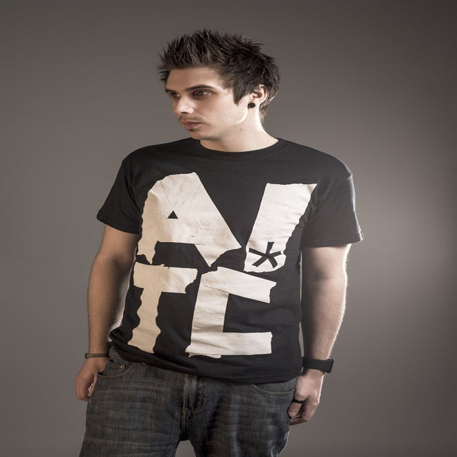 Image of AITC* Tape Black Tee