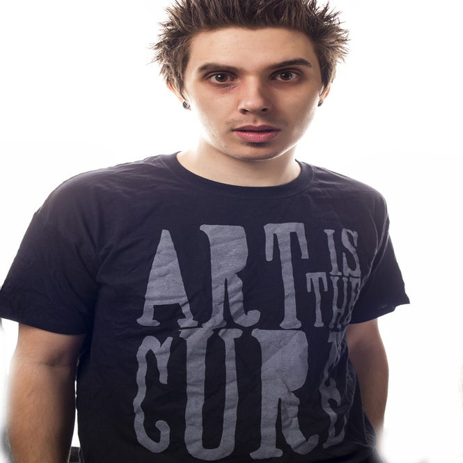 Image of Art Is The Cure Mens Black Tee
