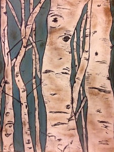 Image of Aspen Trunks Painting