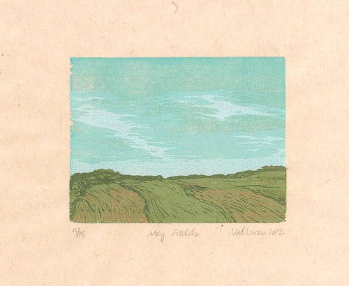 Image of May Fields Reduction Woodcut