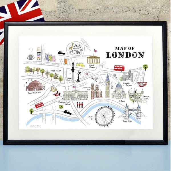Tait 'map Of London' Print Alice Shop: Map Of London Print At Infoasik.co