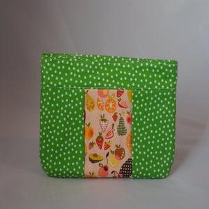 Image of Green Polka Dot Zipper Pouch