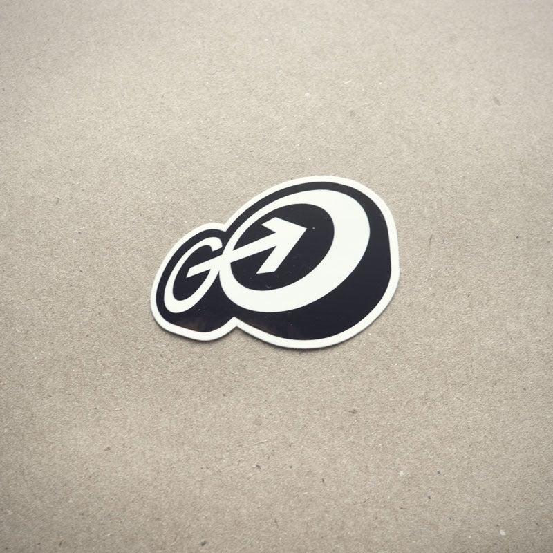 """Image of Go Media """"GO"""" logo sticker"""