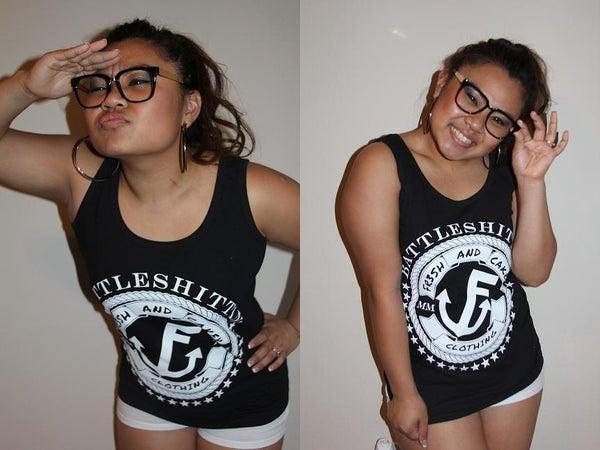 """Image of Fr3sh & Cakey """"BattleShittin'"""" Women's Tank Top in Black"""