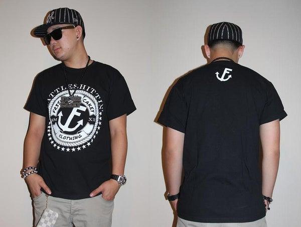 "Image of Fr3sh & Cakey ""BattleShittin'"" Men's T-Shirt in Black"