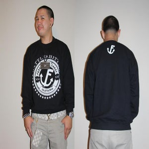 "Image of Fr3sh & Cakey ""BattleShittin'"" Crew Neck Sweater in Black"