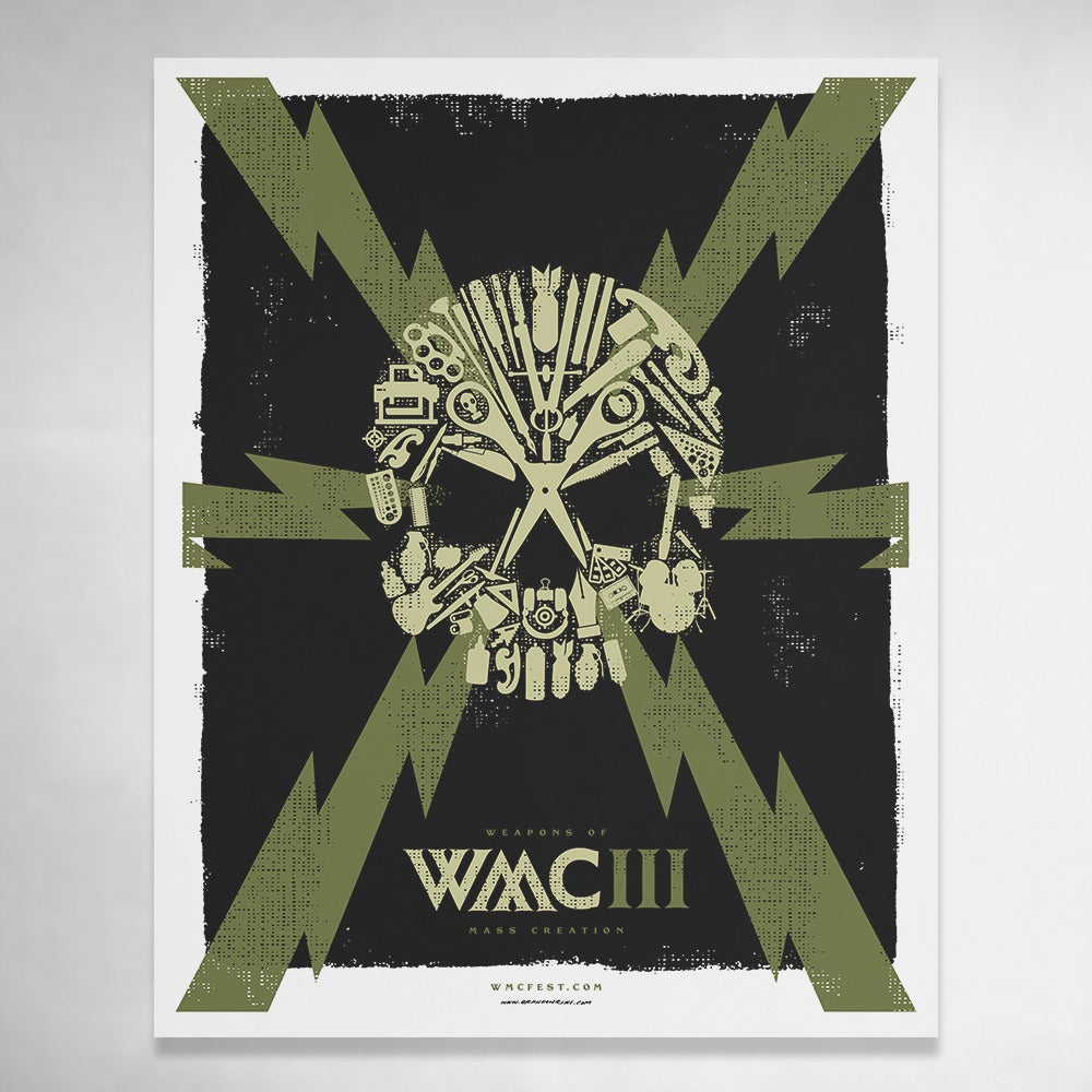 Image of WMC Skull Poster 16x20