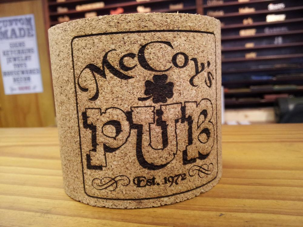 Image of Cork Beverage Koozie Wrap