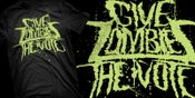 Image of Give Zombies The Vote Logo Tee (Green)