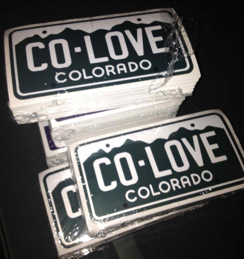 Image of Colorado Love License Plate Sticker