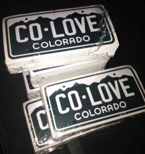Image of Colorado Love License Plate Sticker