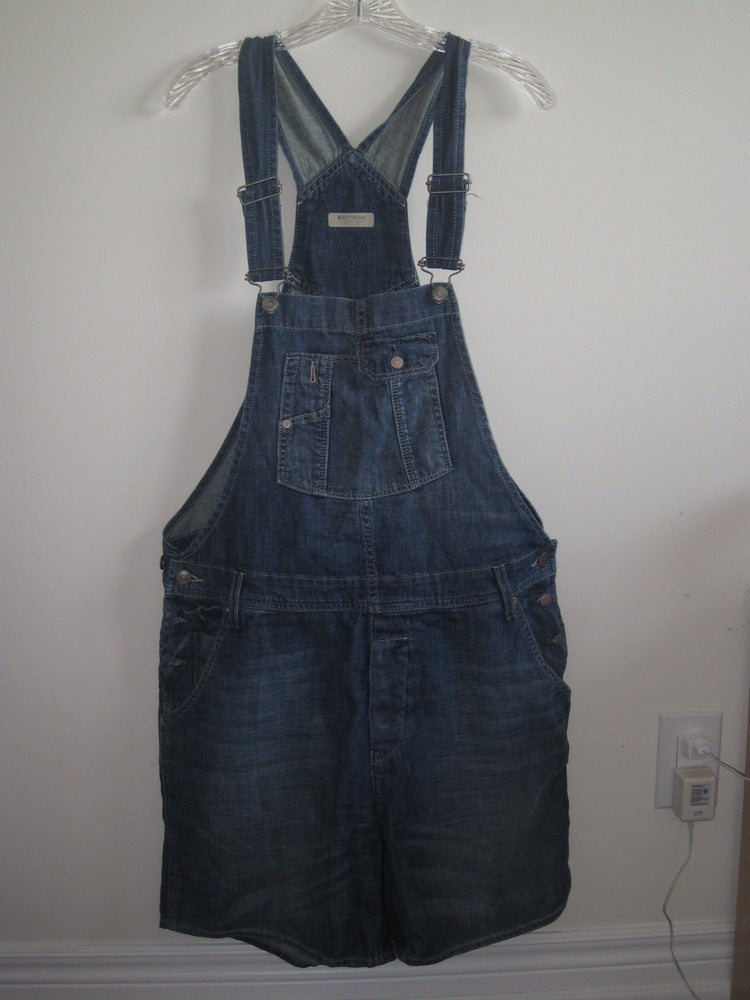 """Image of H&M """"Boyfriend"""" Overall Shorts"""