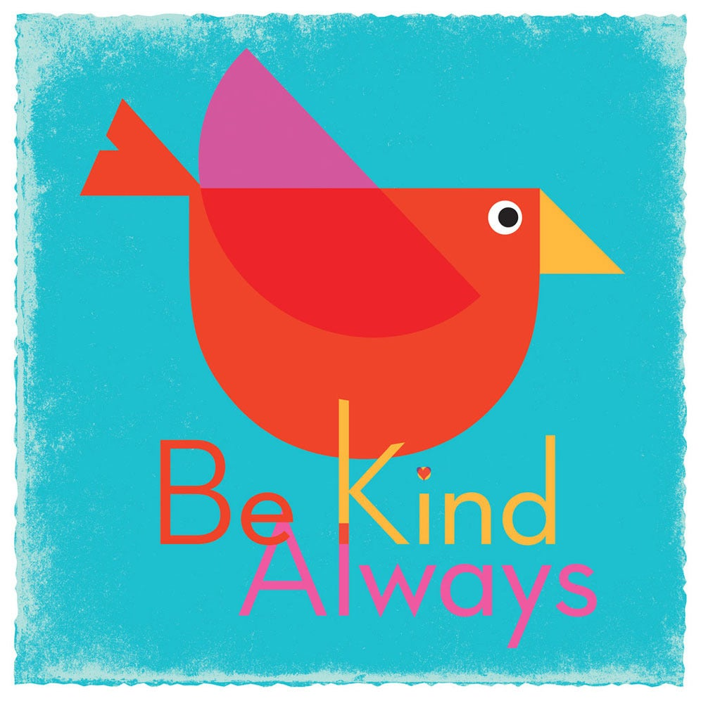 Image of Be Kind Always Bird Art Print (Blue)