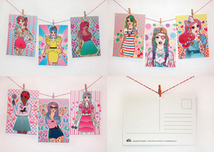 Image of Candy Doll Postcards