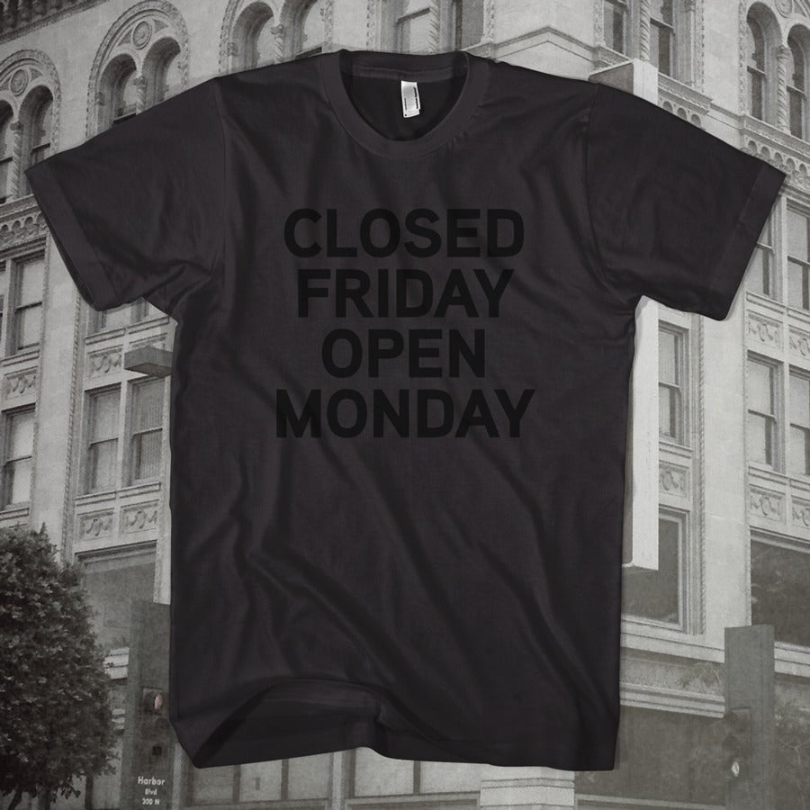 Image of Friday Furlough Tee (Black)