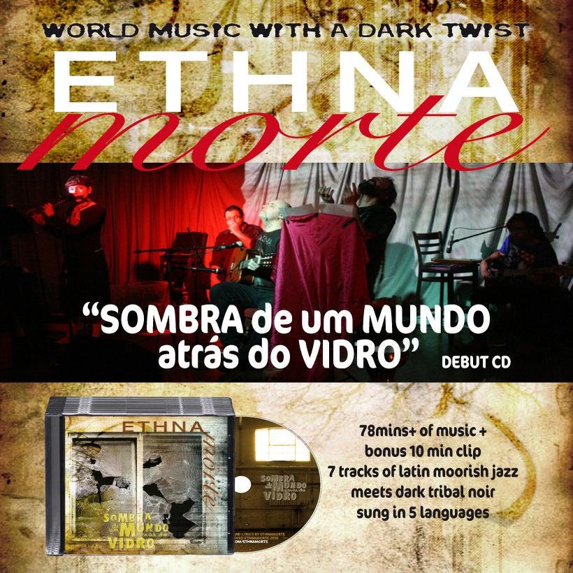 """Image of """"Sombra de um Mundo atras do Vidro"""" debut CD (physical or download)"""