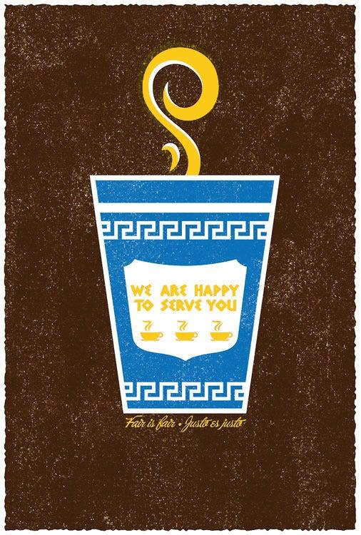Image of Fair Is Fair Trade Coffee Screen Print