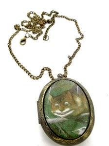 Image of Alice in Wonderland Cheshire Cat Locket