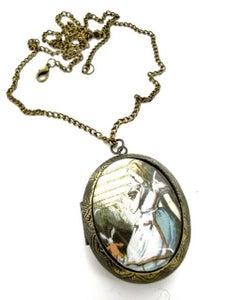 Image of Alice in Wonderland Disappearing Rabbit Locket