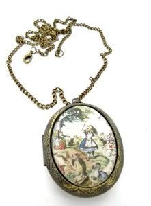 Image of Alice in Wonderland Scene Locket