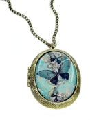 Image of Blue Butterfly Locket