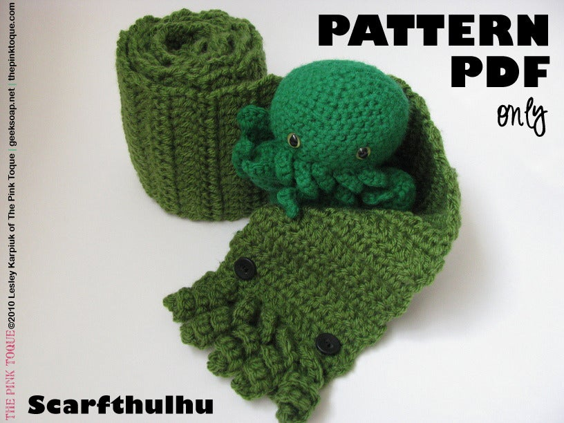 The Pink Toque Shop Scarfthulhu Cthulhu Scarf Crochet Pdf Pattern