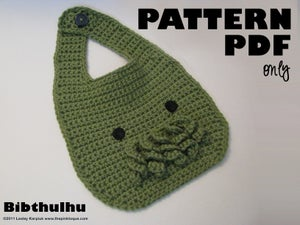 Image of Bibthulhu Cthulhu Baby Bib AND Purse - CROCHET PDF PATTERN