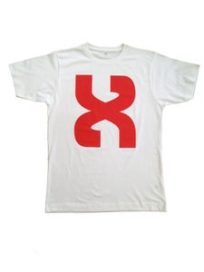 Image of Red X White Tee