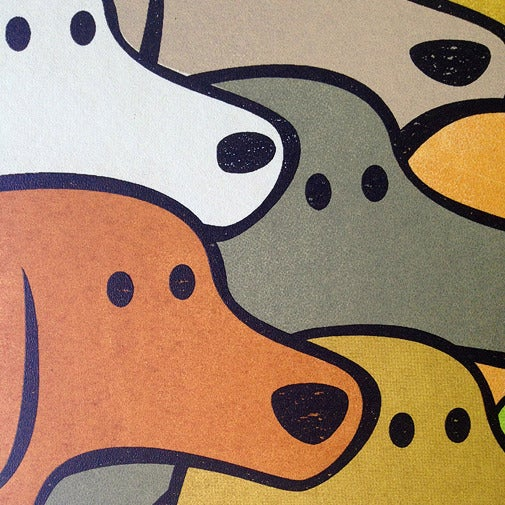 Image of 7 Dogs Screen Print Limited Edition
