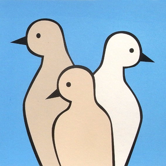 Image of 3 Birds Screen Print Limited Edition