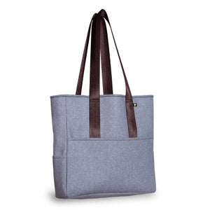Image of Pocket Tote - Heather Gray Wool Twill