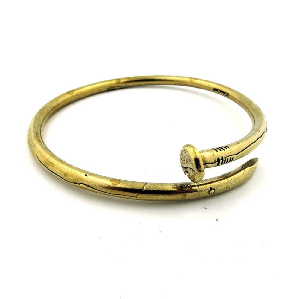 unionthebrand new nail bangle bent nail bracelet